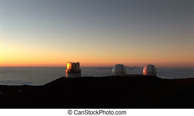 Telescope Observatory at Sunset - An observation station...