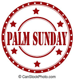 Palm Sunday-stamp - Rubber stamp with text Palm...