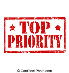 Top Priority-stamp - Grunge rubber stamp with text Top...