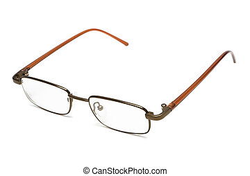 modern glasses - New and modern glasses on a white...