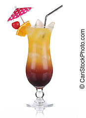 Tequila Sunrise Cocktail isolated