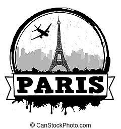 Paryż, tłoczyć, podróż, Albo, etykieta