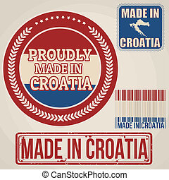 Made in Croatia stamp and labels - Set of stamps and labels...
