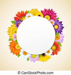 Colorful Gerbers Flower, With Gradient Mesh, Vector...