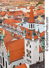 City view of Munich, Old Town Hall, Bavaria - Old Town Hall...