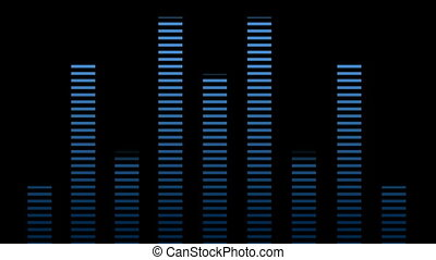 musical waveform - Blue musical waveform