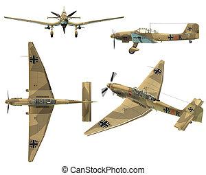 JU87D Stuka - Dive bomber from the World War II - 3D Render...