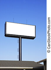 Blank billboard with space for your advertisement against...