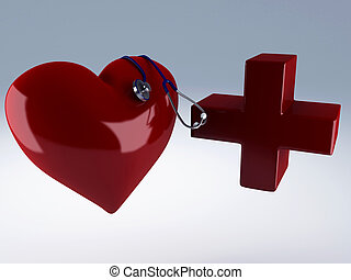 heart and red cross