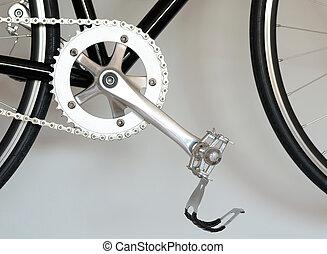 bike pedal - Closeup view of bike pedal