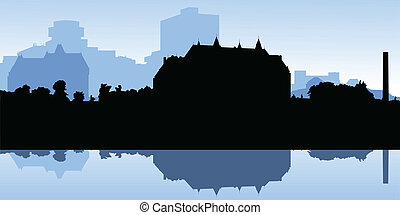 Canadian Supreme Court - Silhouette of the Canadian Supreme...