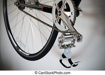 Close up of bicycle's pedal detail