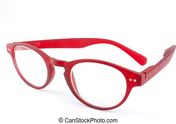 Eye glasses - Red eye glasses isolated on white background