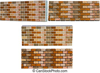 brick walls with different colored mortars