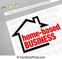 Home Based Business website resource offering advice, tips, help, assistance and information about building or setting up a new business as your own boss and being self-employed