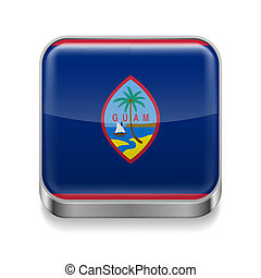 Metal  icon of Guam