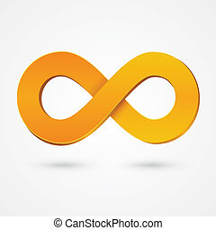 Abstract infinity orange sign