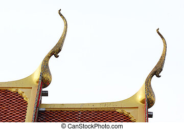 Gable apex on temple roof, Thailand