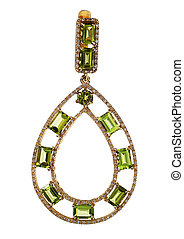 Pendant with gems