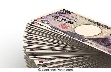 Stack of Japanese Yen