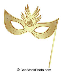 carnival masks - a golden carnival mask with some ornaments...