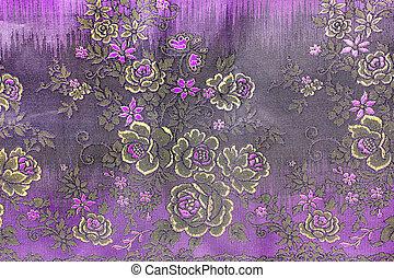 popular batik sarong pattern background in Thailand,...