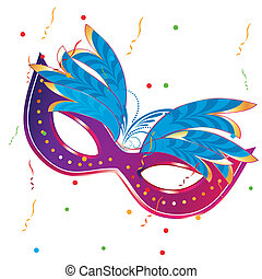 carnival masks - a purple carnival mask with some blue...