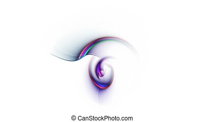 Colorful Abstract Nautilus - colorful abstract background in...