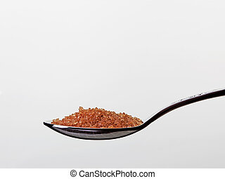 teaspoon with brown sugar