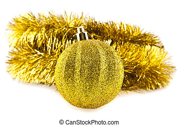 christmas decorations on a white background. picture from...