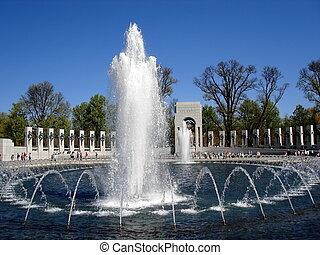 nacional, WWII, monumento conmemorativo, fuente, 002