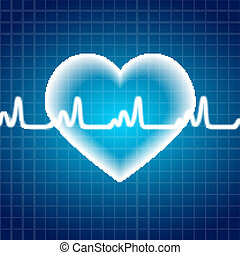 Abstract Heart Pulse Medical Background Vector Illustration...