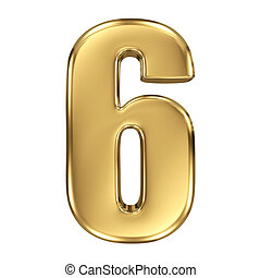 3d golden number collection - 6