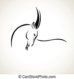 vector illustration goats - vector stylized figure of a goat