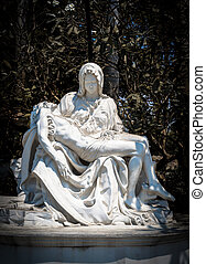 pieta statue is a sculpture Sathorn general public can take...