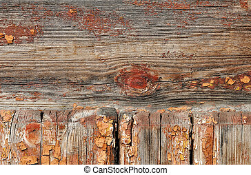 Wooden planks - Weathered obsolete rough textured wooden...