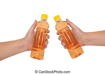 hand holding a bottle