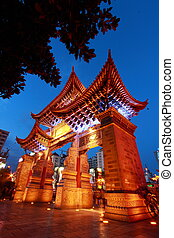Golden horse Jade chicken gate Kunming China - Golden horse...