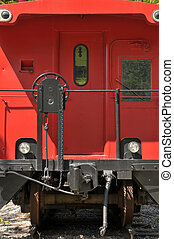train caboose - close up of back of caboose