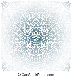 Floral background - Ornamental design, digital artwork