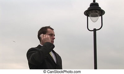 Businessman on the Phone - Stock Video Footage of a man on...
