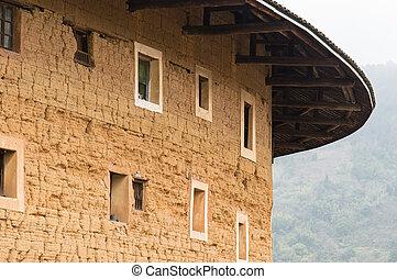 prowincja, houses), hakka, mieszkaniowy, miasteczka, tulou,...