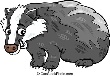badger animal cartoon illustration