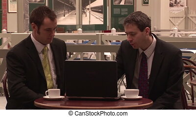 Two Businessmen Having a Meeting - Stock Video Footage of...