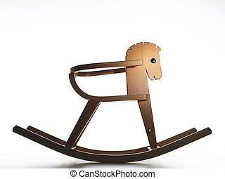 Rocking horse - rocking horse on white background