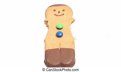 Gingerbread Man - Time Lapse Stock Video Footage of Ginger...