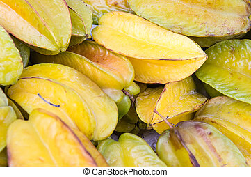 Starfruit - Many starfruits, tropical fruit