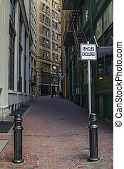 Boston back alley - small back alley in downtown boston