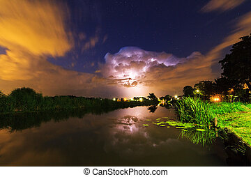 Thunderclouds reflection - Thunderclouds and lightning...