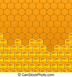 honeycomb background - vector illustration eps 10